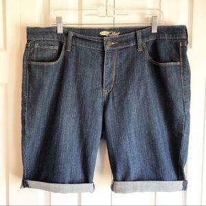 Old Navy The Flirt Blue Denim Jean Shorts Size 16